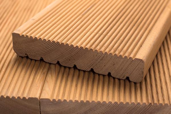 Террасная доска лиственница сорт Экстра 35x140x4