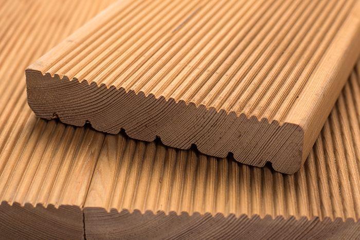Террасная доска лиственница сорт АВ 27x140x3
